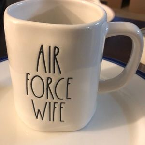 Rae Dunn Air Force Wife Mug New